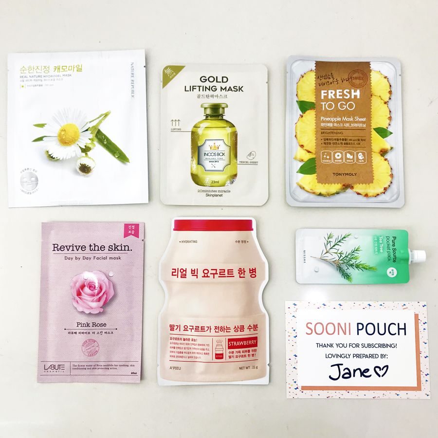 Sooni Mask Pouch-Best face sheet masks