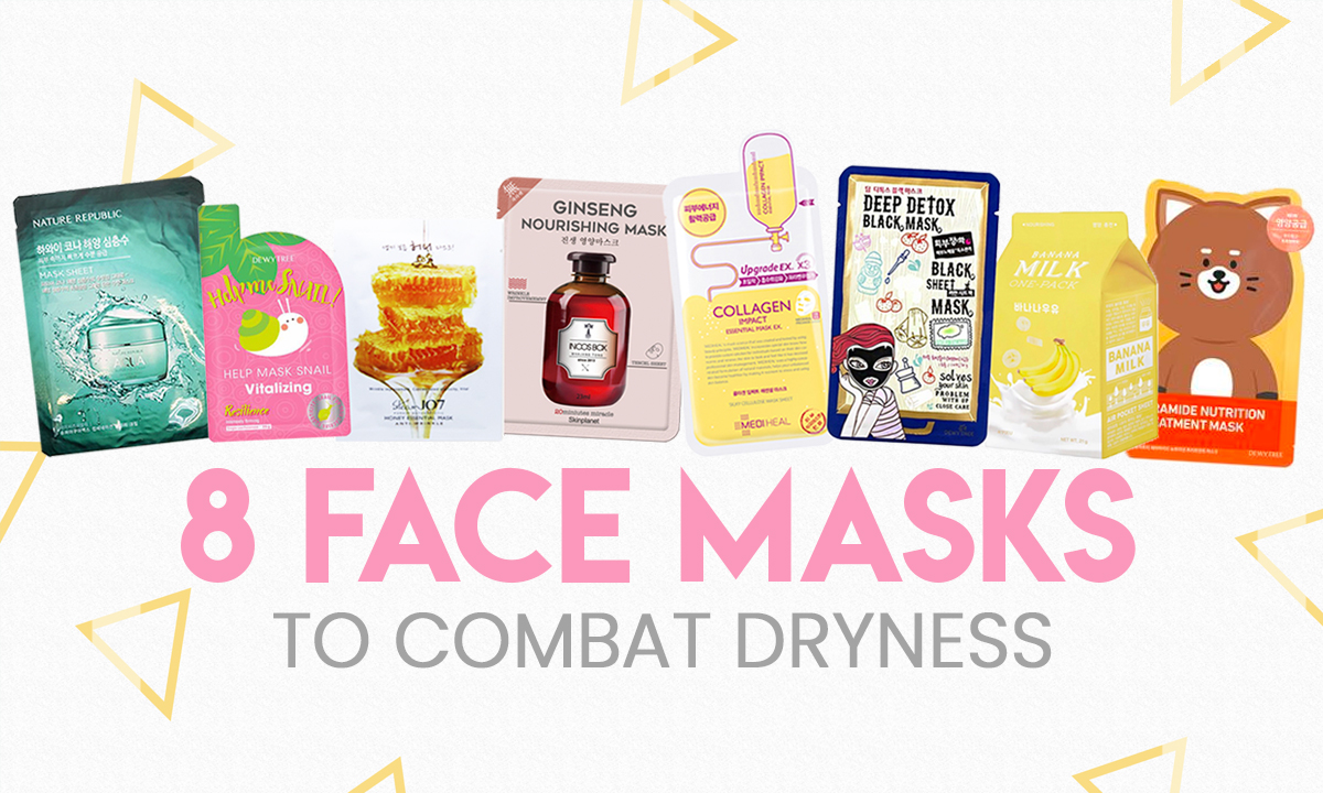 8 face masks to combat dryness