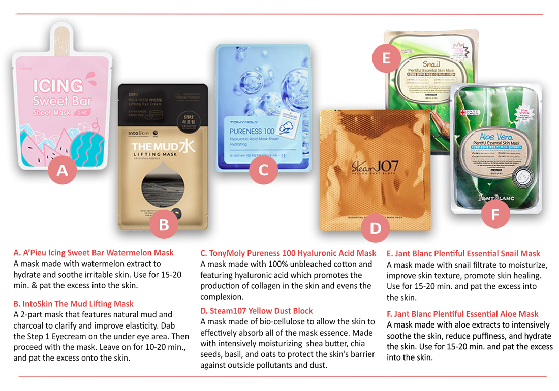 April Sooni Mask Pouch - Face Sheet Masks